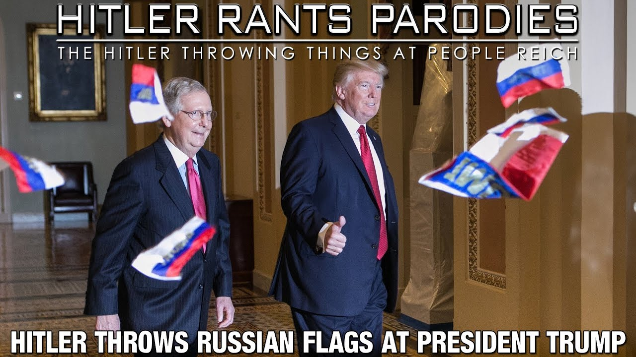 Hitler throws Russian flags at President Trump