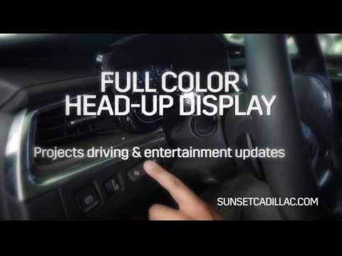 cadillac xt5 crossover head up display sunset cadillac. Black Bedroom Furniture Sets. Home Design Ideas