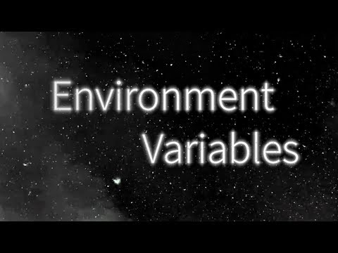 What are Environment Variables, and how do I use them? (get,set)