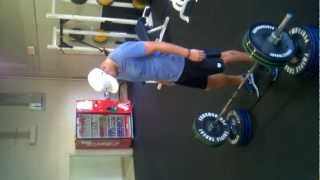"""NFL QB Derek Anderson Carolina Panthers doing Snatch Grip Power Pulls from 6"""" height"""