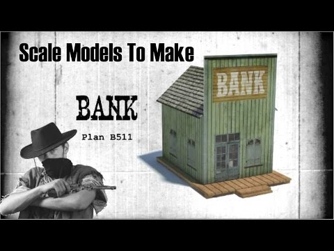 13 Scale Model Wild West Building To Make