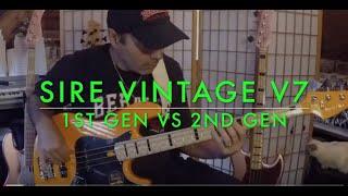 Sire Vintage V7 - 1st Gen vs 2nd Gen