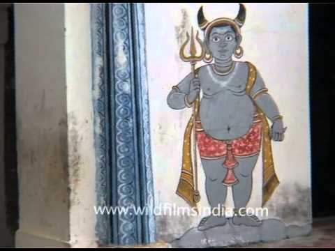 Inside the Kedar-Gauri Temple in Bhubaneshwar, Odisha