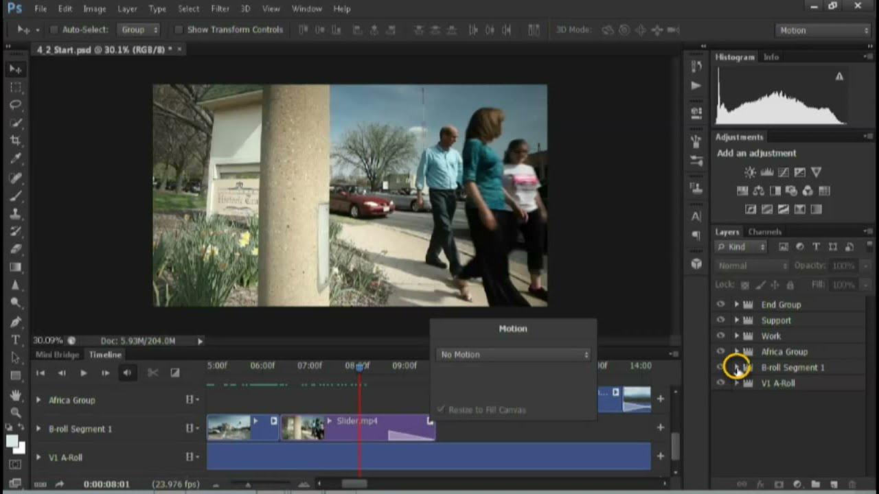 Photoshop Cs6: Making Audio Adjustments  Lynda Tutorial