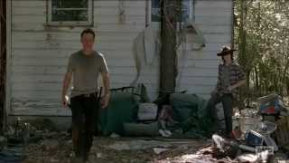 The Walking Dead 5x12 Rick and Carl Grimes Father son bonding