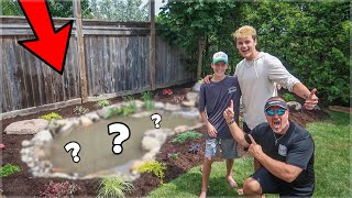 My #1 Fan Gets DREAM Backyard POND!!!