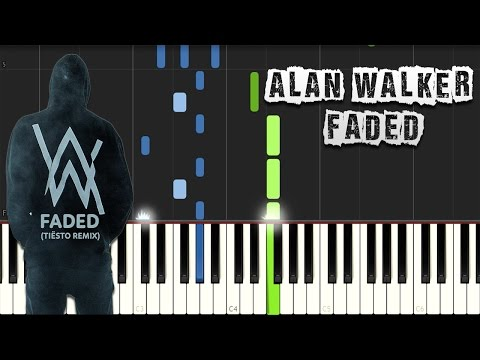 Alan Walker - Faded - Piano Tutorial Synthesia (Download MIDI)