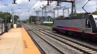 Trains at Princeton Junction 7/27/14