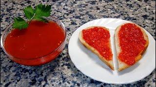 Аджика из помидор с чесноком и перцем 🌟 Sauce of tomato with garlic and pepper