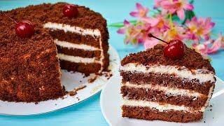 """Очень простой и вкусный шоколадный торт """"ПОЛЬ РОБСОН"""" на кефире со сметанным кремом"""