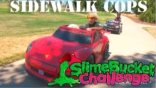Sidewalk Cops | Do The Slime Bucket Challenge | Charity for Action For Children! | Kids Videos