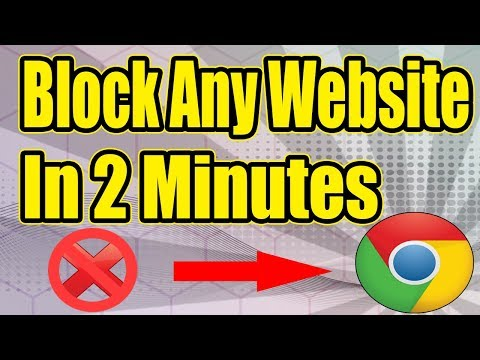 How To Block Any Website Using Google Chrome 2018 (New And Easiest Way)