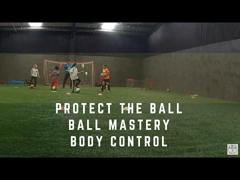 Fun soccer training-games drills and skills. Protect the ball- Body control-ball mastery