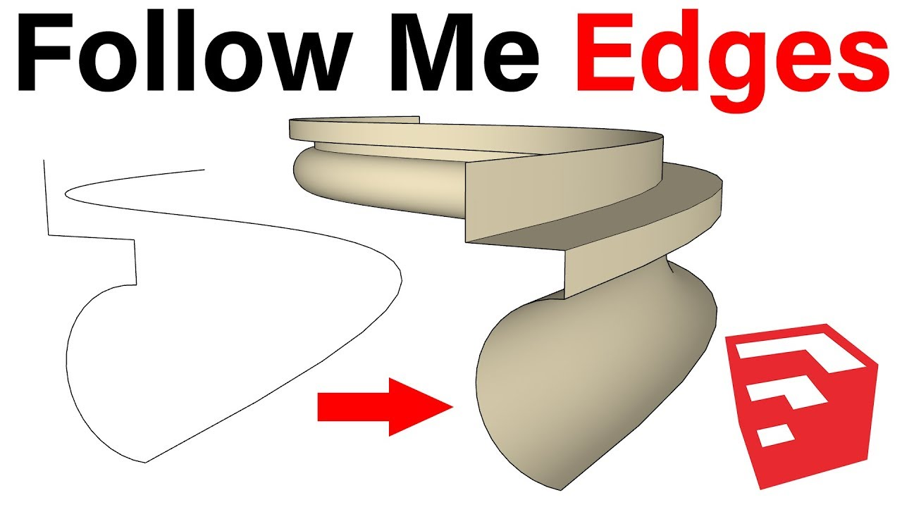 Follow Me Edges in SketchUp by TutorialsUp