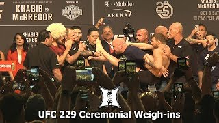 UFC 229: Khabib Nurmagomedov vs Conor McGregor Ceremonial Weigh-ins