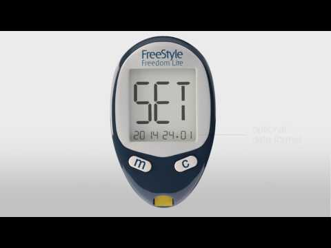 FreeStyle Freedom Lite System  Set Up Your Meter And Perform A Blood Glucose Test