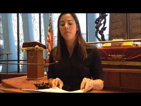 Erin Konheim Mandras Speaks at Beth Tfiloh Dahan Community ...