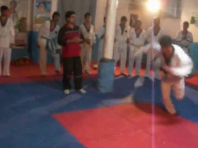Hedayatullah Nazari Taekwondo Association Students Roundhouse Kicks