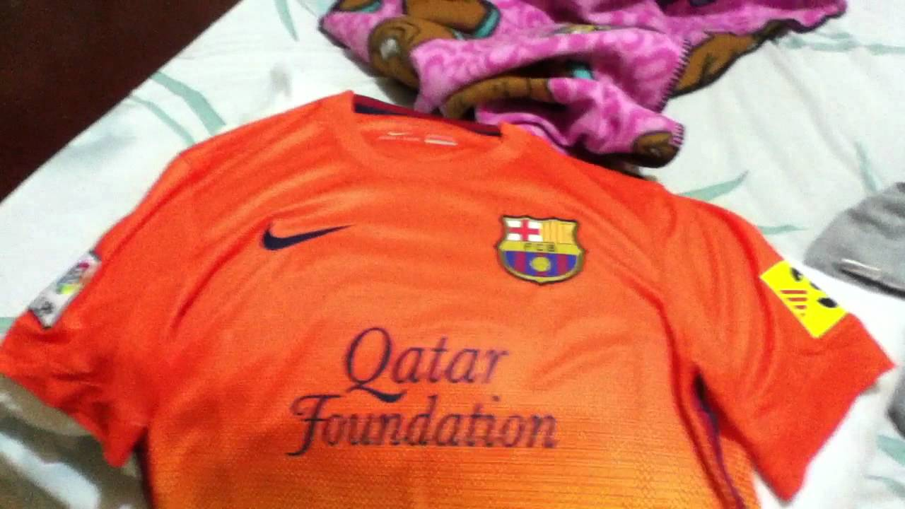 ac697b475 FC Barcelona 2012-13 Away Jersey - YouTube