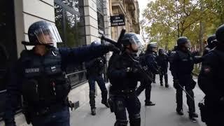 La manifestation des fonctionnaires dégénère - Paris 10.10.2017