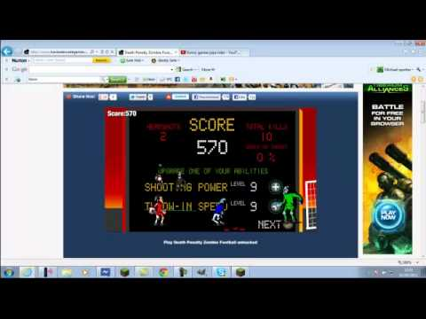hacked arcade games zombie football part 1 - YouTube
