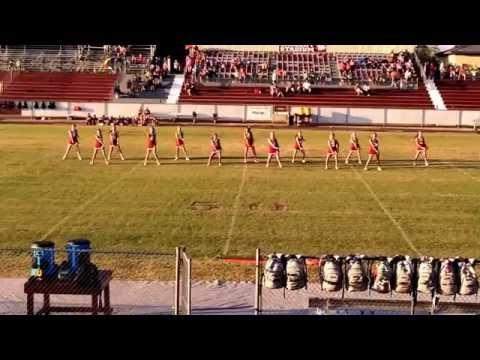 Haleyville Middle School Cheerleaders Half-time Dance 2015 - Neon Lights