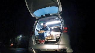 氷点下の夜に富士の湖畔で一夜を過ごす車中泊【絶メシロード】