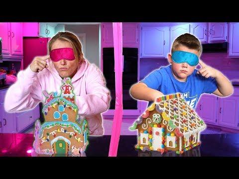 I challenge Kyle to GRINCH GINGERBREAD HOUSE BUILDING BATTLE | Vlogmas 2018
