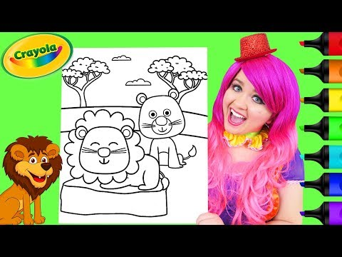 Coloring Cute Lions Crayola Coloring Page Prismacolor Markers | KiMMi THE CLOWN