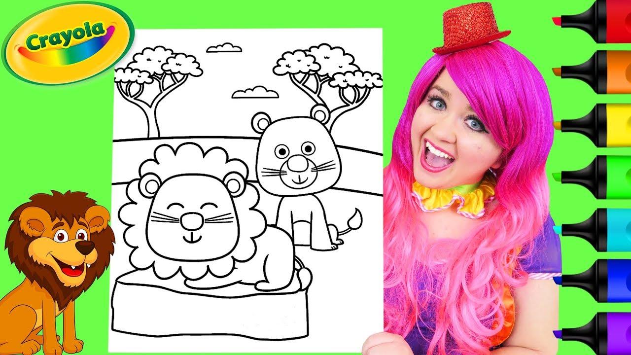 Coloring Cute Lions Crayola Coloring Page Prismacolor ...