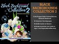 Black Backgrounds Collection 2 Adult Coloring Book Flip Thru