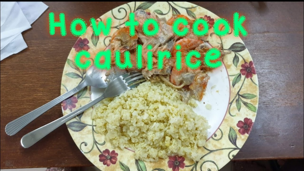 HOW TO COOK SIMPLE CAULIFLOWER FIED RICE (TAGALOG) #lowcarbdiet