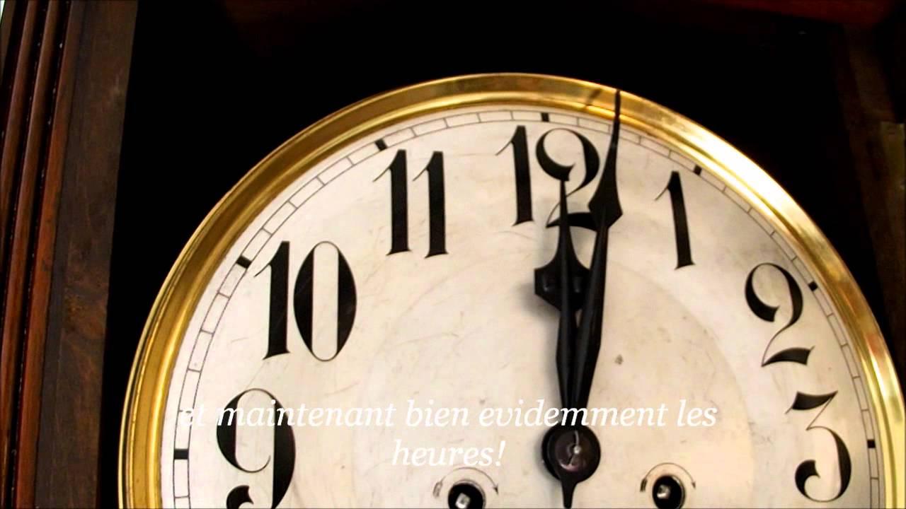 carillon pendule horloge murale rohrgong rare syst me boite a musique 12 coups de minuit youtube. Black Bedroom Furniture Sets. Home Design Ideas
