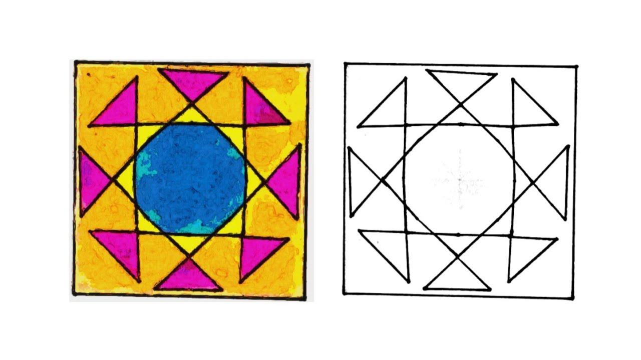 رسم زخرفة سهلة وبسيطة رسم وحدة زخرفية لا نهائية زخارف اسلامية هندسية سهلة Islamic Geometric Youtube
