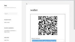 Creating  bitcoin wallet on my wordpress website