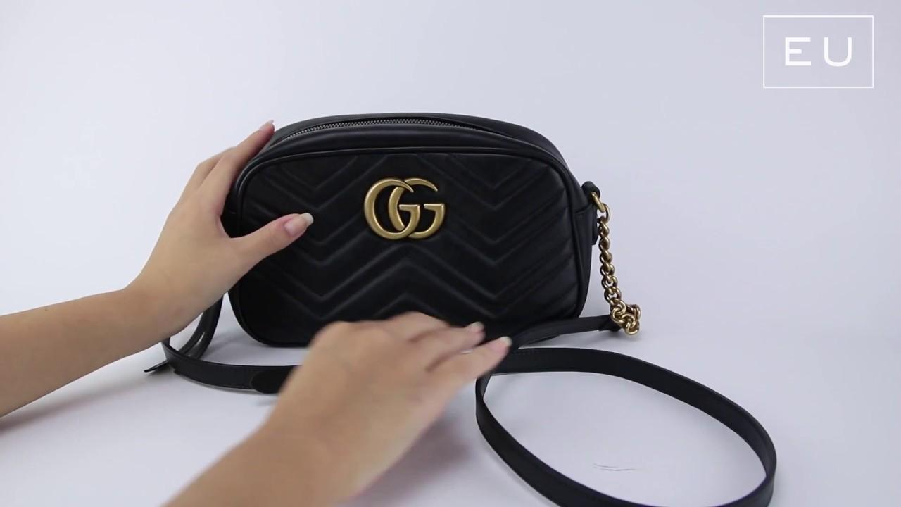 01b85825c Bolsa Gucci GG Marmont Preta   Etiqueta Única - YouTube