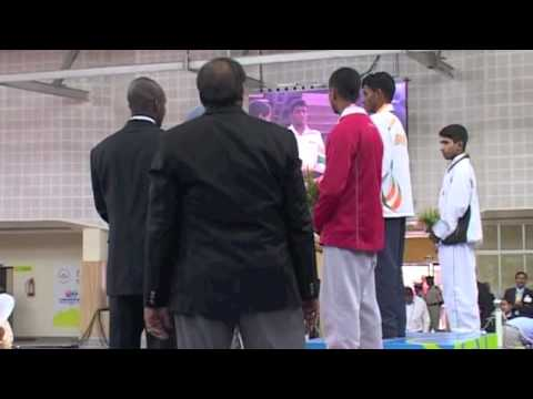 2008 Commonwealth Youth Games: 42 kg Medal Ceremony