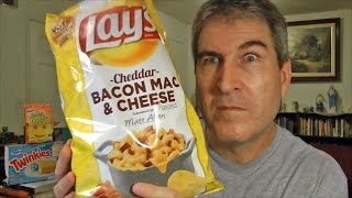 Lay's Cheddar Bacon Mac & Cheese Flavored Potato Chips Review #dousaflavor