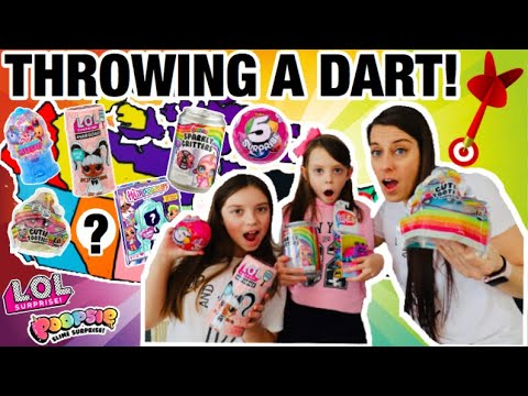 Throwing A Dart At A Map Opening Whatever Toy It Lands