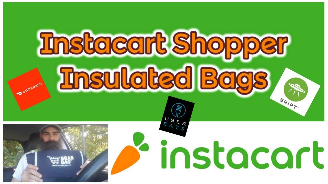 Instacart Shopper | Insulated Grab Bags - Dave Wright