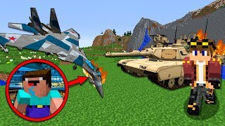 как сделать самолет или танк в майнкрафте