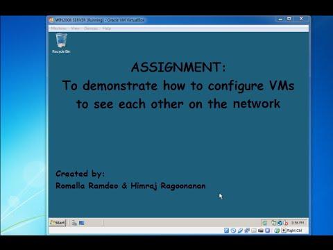 Windows Server 2008: Configuring VMs on a peer to peer network