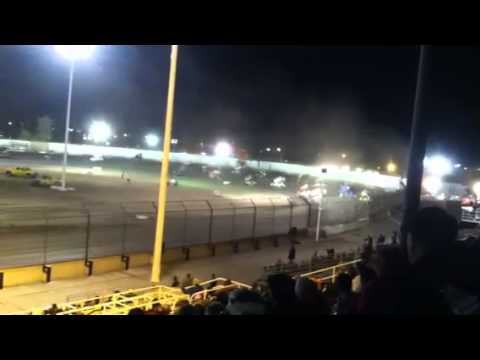 9 cars wreck at Thunderbowl speedway