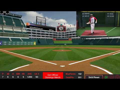 Domingo Ayala Takes Batting Practice in Texas
