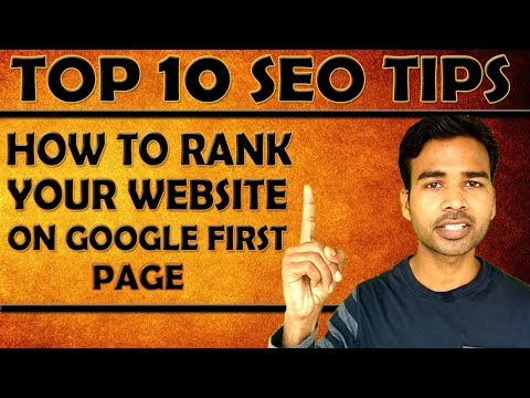 TOP 10 SEO TIPS - RANK YOUR WEBSITE IN GOOGLE FIRST PAGE - 동영상