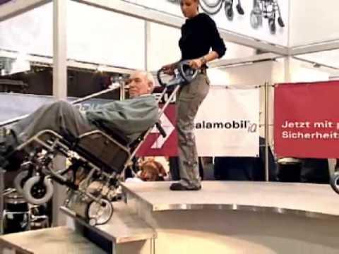 Scalamobil - Monte escalier pour fauteuil roulant - YouTube