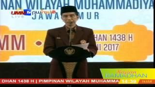 Pak Jokowi: Kog tepuk tangan! wong saya mau bicara masalah PK!