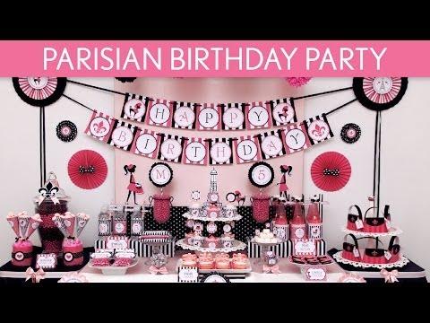 Parisian Birthday Party Ideas // Parisian - B105