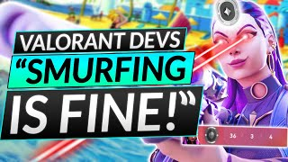 NEW UPDATE on SMUŔFING - WHAT??? Riot Devs Say It's FINE - Valorant Update
