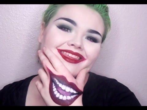 Joker Inspired Glam Makeup Tutorial Suicide Squad Joker Hand